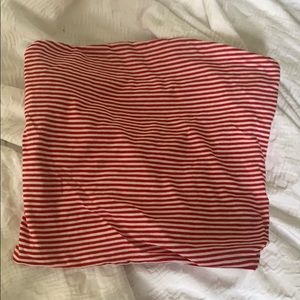 Red & White Stripped Brandy Melville Bandeau